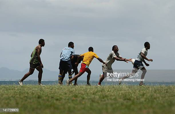 The Redrock rugby union team trains at Laucala Park in Suva Fiji