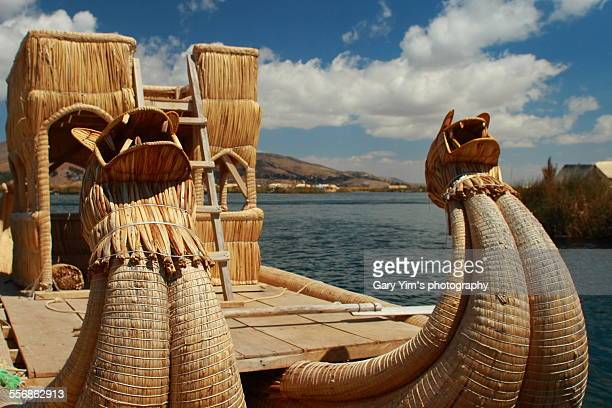 The reed boat on lake Titicaca