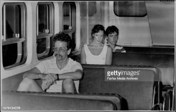 The Reenactment Of Mrs Lorraine Cobby's Last Hours On The 4th Of February 1986Debbie Wallace sits in the train in an effort that someone may remember...
