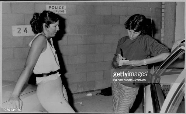 The Reenactment Of Mrs Lorraine Cobby's Last Hours On The 4th Of February 1986Policewoman Debbie Wallace and journalist Allison Cartmill at Blacktown...