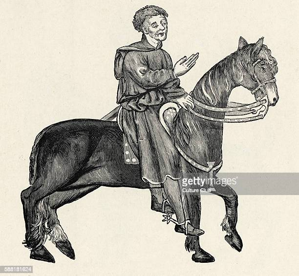 The Reeve character in Geoffrey Chaucer s Canterbury Tales Held at University Library Cambridge