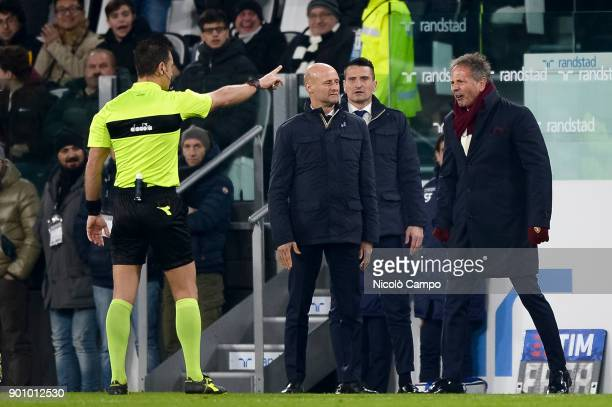The referee Daniele Doveri sent off Sinisa Mihajlovic head coach of Torino FC during the TIM Cup football match between Juventus FC and Torino FC...