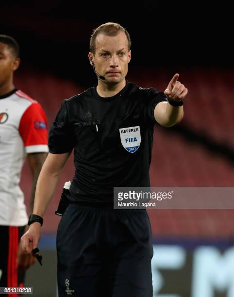 The referee William Collum during the UEFA Champions League group F match between SSC Napoli and Feyenoord at Stadio San Paolo on September 26, 2017...