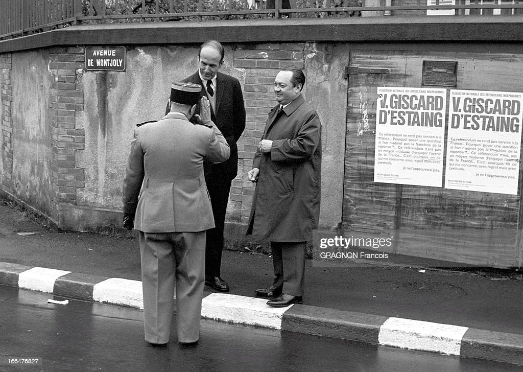 The Referendum Of April 27Th 1969 Vote Valery Giscard DEstaing