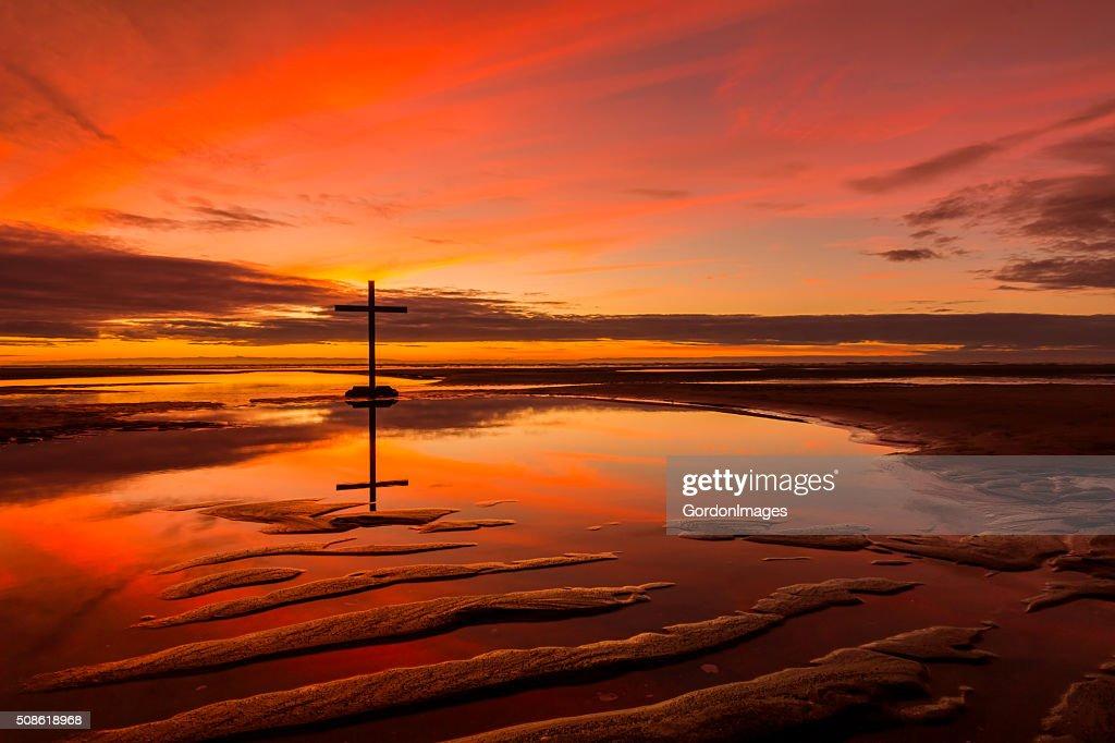 The Reflection Cross : Stock Photo