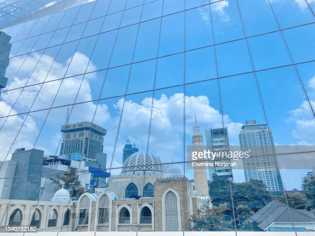 reflection from building