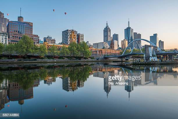 The reflection of Melbourne.