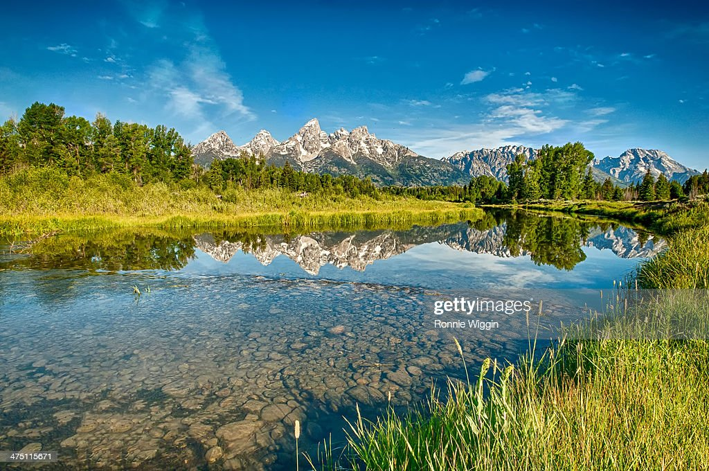 The Reflections of Schwabacher Landing : Stock Photo