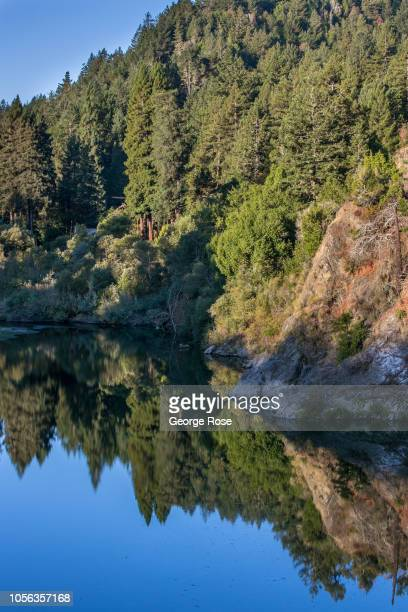 The reflective Russian River is viewed on September 21 near Guerneville California A cool spring and mild summer have contributed to a laterthanusual...
