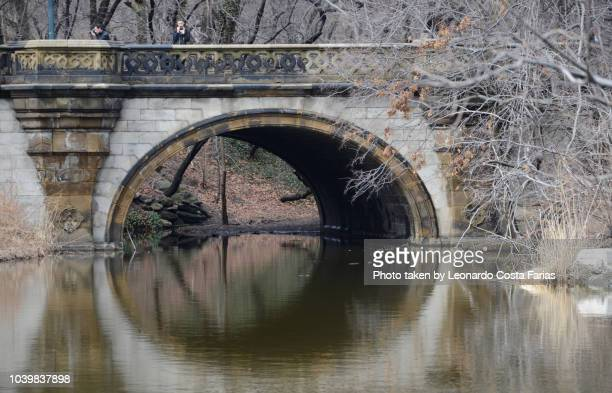 the reflexions and the bridge - leonardo costa farias stock photos and pictures