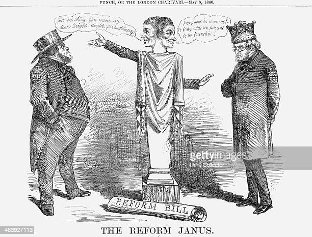 'The Reform Janus' 1860 Here Janus has the face of Lord Russell who had recently introduced an unpopular bill for Parliamentary Reform In Roman...