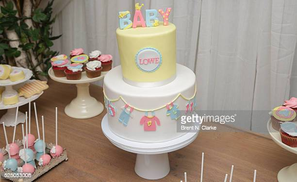 The refreshment table is seen during Catherine Lowe and Sean Lowe's #Amazinghood baby shower held at Gansevoort Park Avenue on April 27 2016 in New...