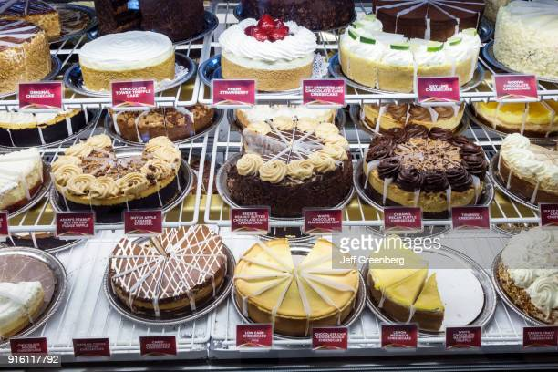 The refrigerated display case at the Cheesecake Factory at Coastland Center Shopping Mall