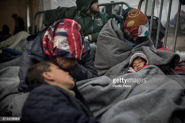 The refugees camp on the GreekMacedonian border in Idomeni Macedonia is allowing only restricted entry to refugees At the border crossing in Idomeni...