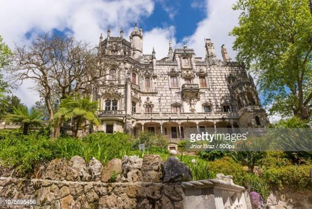 the regaleira palace (known as quinta da regaleira) in sintra - quinta da regaleira photos stock pictures, royalty-free photos & images