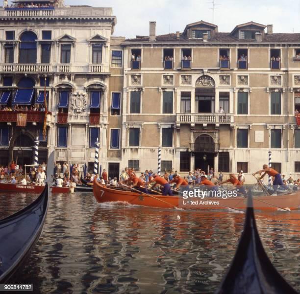The Regata storica in Venice Italy 1980s