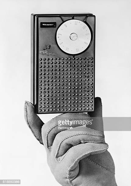 The Regency Pocket Size Radio, an early form of transistor radio.