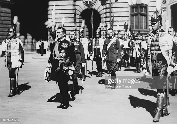 The Regent Of The Kingdom Miklos Horthy The National Holiday At Budapest In Hungary On August 22Nd 1931