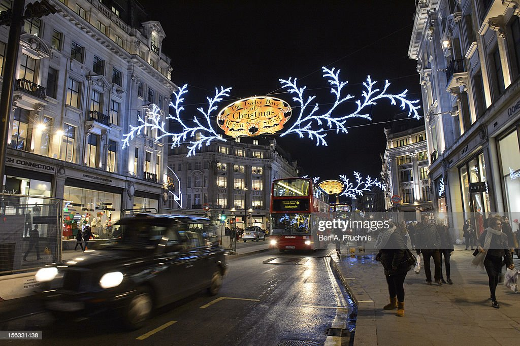 The Regent Street Christmas Lights at Regent Street on November 13, 2012 in London, England.