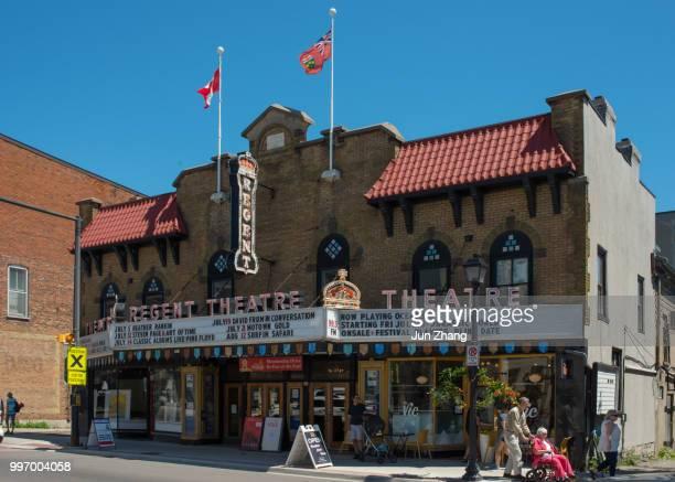 the regent theatre in small town picton, ontario,  canada - contea di prince edward ontario foto e immagini stock