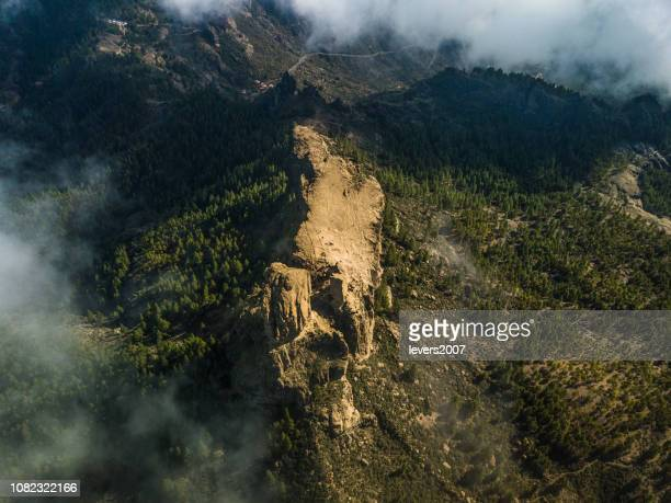 the region of roque nublo, gran canaria, spain. - tejeda canary islands stock pictures, royalty-free photos & images
