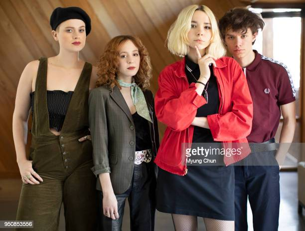 Sage Chavis Genessa Gariano Lydia Night and Maxx Morando are photographed for Los Angeles Times on April 15 2018 in Burbank California PUBLISHED...