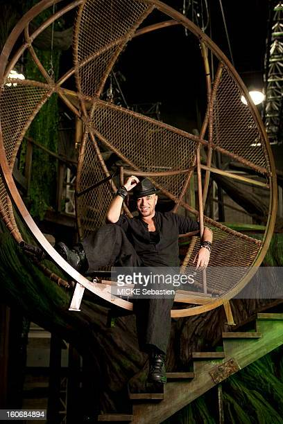 The rehearsals of the new musical comedy by Pascal OBISPO 'Adam amp Eve the second chance' at the Palais des Sports PARIS smiling attitude of the...