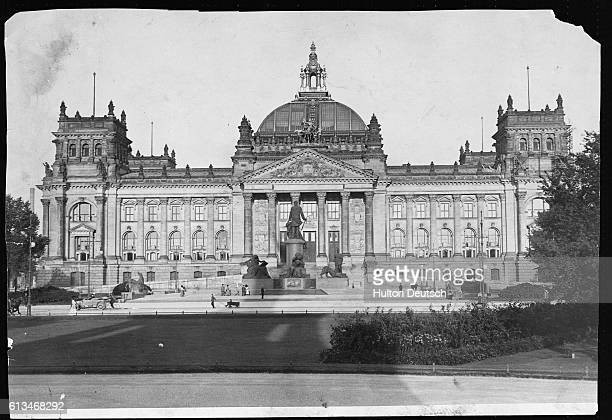 The Reichstag home of the lower chamber of the federal German parliament from 1871 to 1945