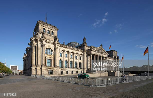 The Reichstag,home of the German Parliament, the Bundestag in the center of Berlin.