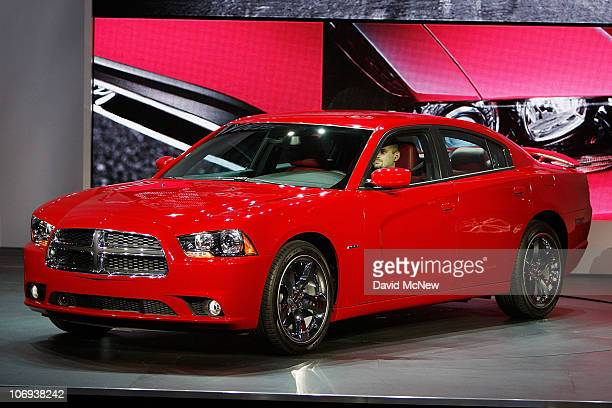 The reintroduced Dodge Charger is revealed during the twoday media preview event for the 2010 Los Angeles Auto Show on November 17 2010 in Los...