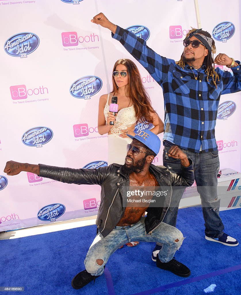 The Rej3ctz and Jennifer Tapiero attend American Idol Auditions At bBooth on August 15, 2015 in Culver City, California.