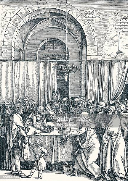 'The Rejection of Joachim's Offering' 1506 A scene from the Life of the Virgin From Durer Des Meisters Gemalde Kupferstiche und Holzschnitte in 471...