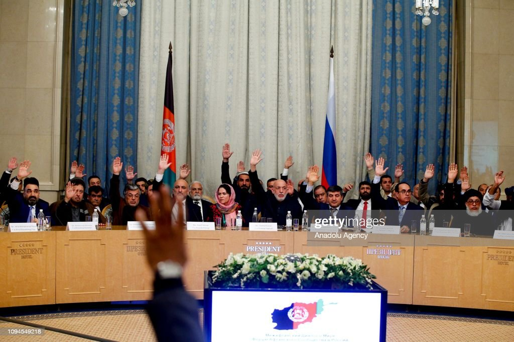 Taliban meet Afghan politicians in Moscow for peace : News Photo