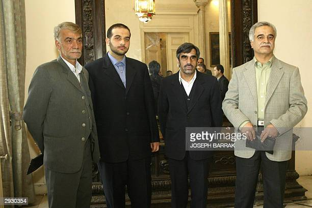 The relatives of four Iranian diplomats missing since 1982 visit the Foreign Ministery in Beirut 05 February 2004 along with Iranian Foreign Minister...