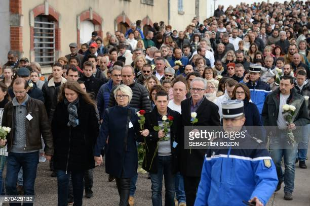 The relatives of murdered French woman Alexia Daval her stepbrother Gregory her sister Stephanie her mother Isabelle Fouillot her husband Jonathan...