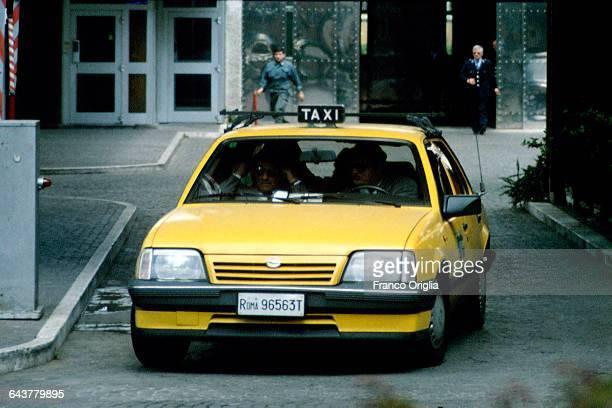 The relatives of Salvatore Riina aka Toto Riina visit the mafia boss at the prison of Rebibbia on April 15 1993 in Rome Italy Riina nicknamed 'The...