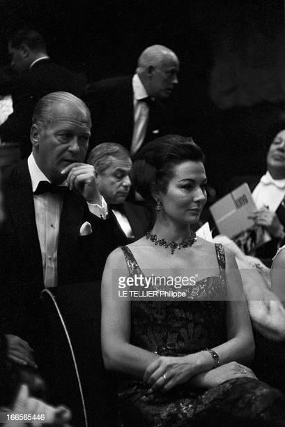 The Release In France Of The Film 'Le Jour Le Plus Long'. Le 26 septembre 1962 au Palais de Chaillot à Paris, en France, Curd JURGENS derrière son...