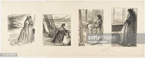 The Relief Fund in Lancashire, The Major's Daughter, The Morning Before the Massacre of St. Bartholomew, and Count Burkhardt , 1862. Artist Joseph...
