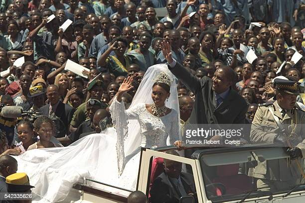 The religious ceremony the wedding of Letsie III KMotsoeneng was held in the Maseru stadium