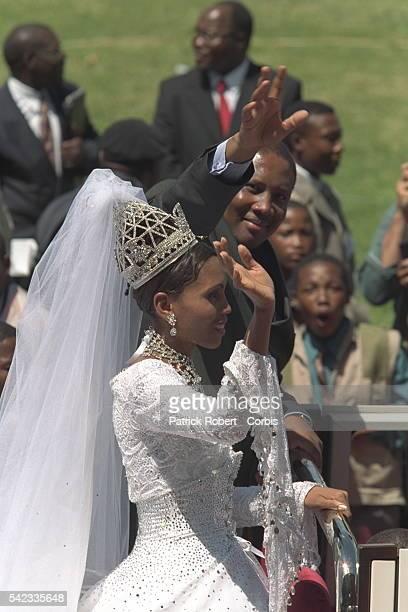 The religious ceremony: the wedding of Letsie III & K.Motsoeneng was held in the Maseru stadium.