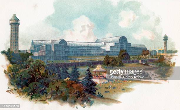The relocated and enlarged Crystal Palace Sydenham London England It stood there from 1854 until its destruction by fire in 1936 The building was...