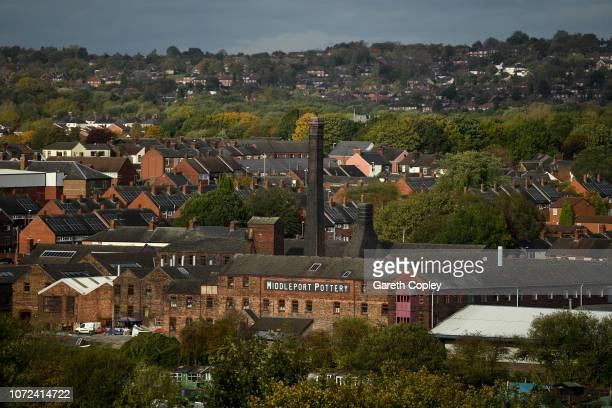 The remaining kiln of Middleport Pottery Burslem on October 12 2017 in Stoke on Trent England At the height of the Potteries industry the...