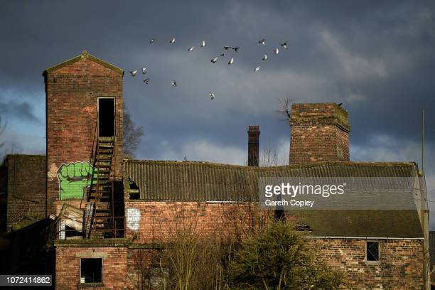 The remaining kiln of Milvale Street Burslem on February 26 2018 in Stoke on Trent England At the height of the Potteries industry the StokeonTrent...