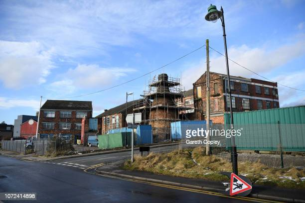 The remaining kiln of Minkstone Pottery Longton on December 12 2017 in Stoke on Trent England At the height of the Potteries industry the...