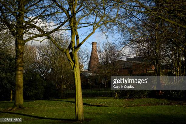 The remaining kiln of Moorcroft Burslem on January 29 2018 in Stoke on Trent England At the height of the Potteries industry the StokeonTrent skyline...