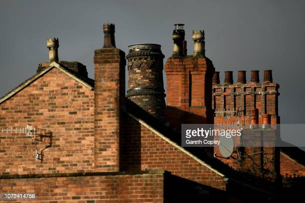 The remaining kiln of Moorland Burslem on October 5 2017 in Stoke on Trent England At the height of the Potteries industry the StokeonTrent skyline...