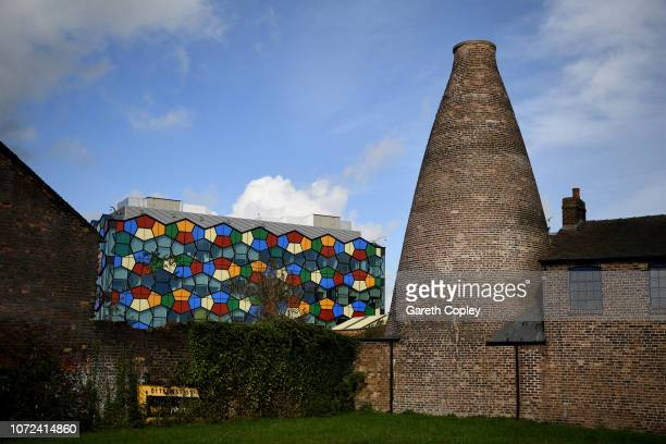 The remaining kiln of Smithfield Pottery Hanley on September 29 2017 in Stoke on Trent England At the height of the Potteries industry the...