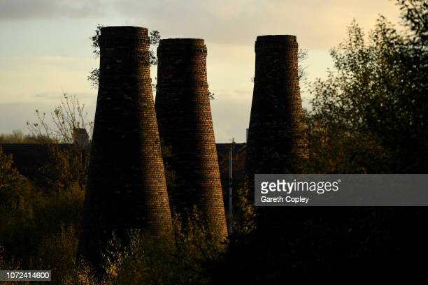 The remaining kilns of Acme Marls Burslem on November 16 2017 in Stoke on Trent England At the height of the Potteries industry the StokeonTrent...