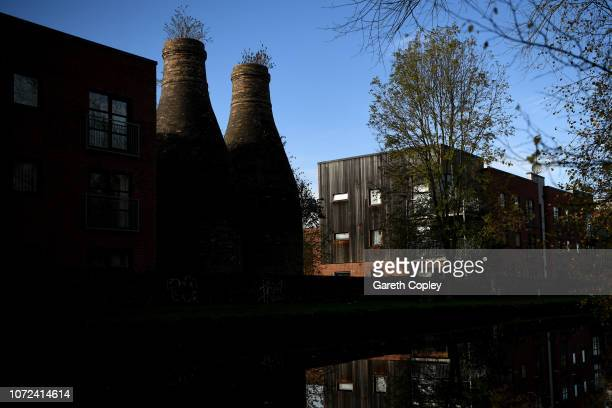 The remaining kilns of Cliffe Vale Hanley on January 11 2018 in Stoke on Trent England At the height of the Potteries industry the StokeonTrent...