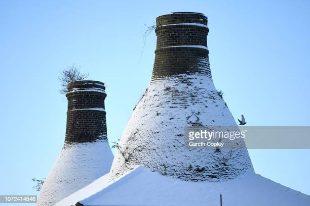 The remaining kilns of Commerce Works Longton on November 12 2017 in Stoke on Trent England At the height of the Potteries industry the StokeonTrent...